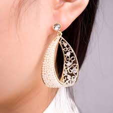 trendy earrings korea pearl gold plated rhinestone fashion trendy jewelry earrings