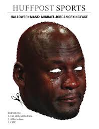 Face Mask Meme - halloween mask crying michael michael jordan and crying