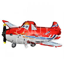 dusty plane foil balloon character party supplies indonesia