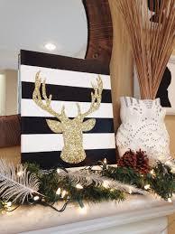 Christmas Deer Head Decorations by Diy Glitter Deer Head