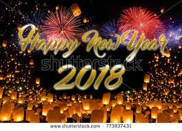 lanterns new year happy new year 2018 sky lanterns stock photo 773837431