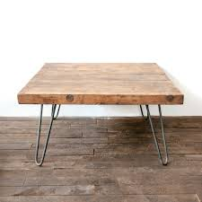 wooden coffee table with hairpin legs white shanty wooden coffee table with hairpin legs