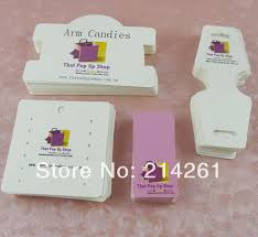 4pcs set wholesale free shipping custom jewelry card custom hang tag