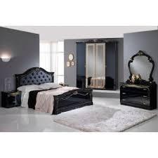 chambre avec lit noir laque noir ensemble chambre a coucher lignemeuble com