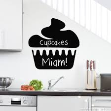 stikers cuisine sticker ardoise design cupcake wall decals salons and walls