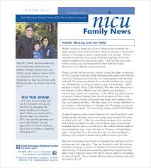 family newsletter template family newsletter template example