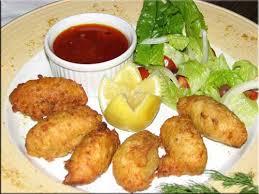 chien cuisine créole recipes salt cod accras with sauce chien from l escargot