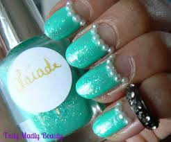 truly madly beauty notd mint pearl vintage nails ft hugosophia