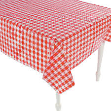 Patio Party Vinyl Tablecloth by Red U0026 White Checkered Tablecloths Orientaltrading Com Use Them