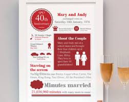 40th wedding anniversary gifts 40th wedding anniversary gifts wedding ideas