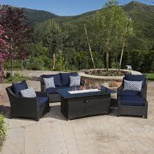 Fire Pit And Chair Set Three Posts Northridge 5 Piece Fire Pit Set With Cushion U0026 Reviews