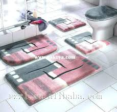 Posh Luxury Bath Rug Stylish Posh Luxury Bath Rug 3 Set Cievi Home Intended For
