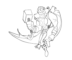 Thor Coloring Pages Thor Coloring Page