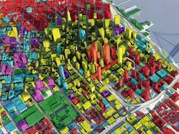 san francisco land use map 3d model of san francisco developed by skidmore owings and