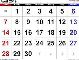 april 2019 calendar template printable calendar yearly