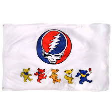 Dancing Flags Grateful Dead Steal Your Face U0026 Dancing Bears Flag On Sale For