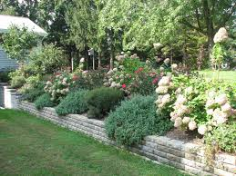 Slope Landscaping Ideas For Backyards by Triyae Com U003d Backyard Retaining Wall Options Various Design