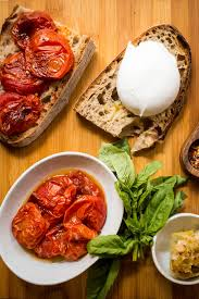 roasted tomato and burrata grilled cheese