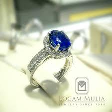 model cincin blue safir jual cincin berlian wanita dg blue sapphire arw rkr603113