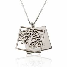 Necklace With Kids Names Layered Family Tree With Kids Names Necklace