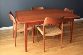 Teak Dining Room Tables Scandinavian Teak Dining Room Furniture With Well Dining