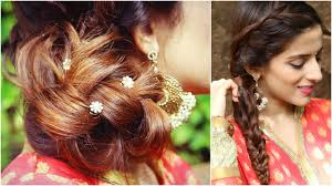 3 indian hairstyles for medium to long hair indian wedding