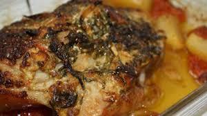 comment cuisiner la rouelle de porc rouelle de porc rôtie à la moutarde et au persil recette par emilie