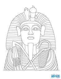 tutankhamun statue coloring pages hellokids com