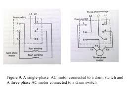 drum switch single phase motor wiring diagram reversing drum