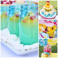 rubber duck party dimple prints