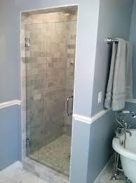 Frameless Bathroom Doors Single Frameless Shower Doors Ideas Y9 Inc