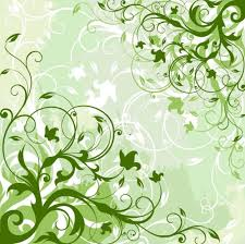 green floral ornaments design background backgrounds