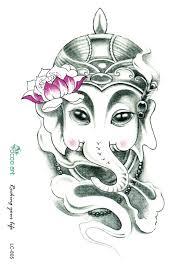 rocooart sc2901 pencil sketch elephant nose general lotus drawing