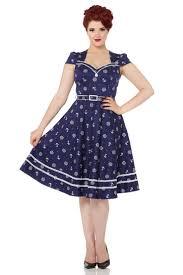 joni flared nautical 50s dress