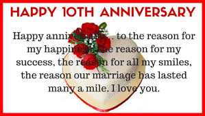 10 year anniversary card message 10th wedding anniversary quotes for husband from marriage