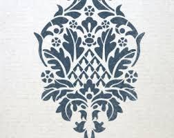 flower stencil chrysanthemum grande lg wall stencils for