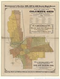 Map Of Columbus Map Of The City Of Columbus Ohio Executed For G J Brand U0026 Co