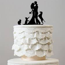 wedding cake topper with dog wedding cake topper 1 dog 2 cats happy family pets