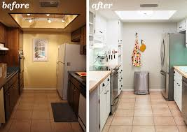 ideas for galley kitchen makeover artistic small kitchen remodel before and after home ideas