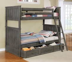 Shelves Over Bed Jordan Twin Over Bunk Bed With Summerlin Trundle Clip On Shelf And