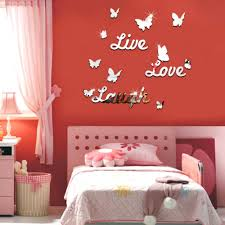 live laugh love quote vinyl wall stickers butterflies mirror home environmentally friendly no marks will be left water resistant and mildew proof can be applied to any smooth and clean surfaces such as walls doors
