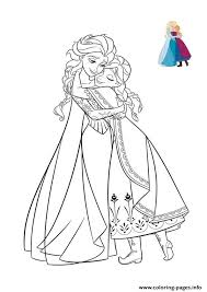 hug sisters frozen elsa anna 2 coloring pages printable