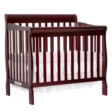Convertible 4 In 1 Cribs On Me Aden Convertible 4 In 1 Mini Crib In Cherry 628 C