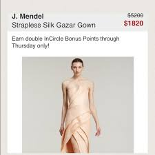 82 off j mendel dresses u0026 skirts j mendel evening gown from
