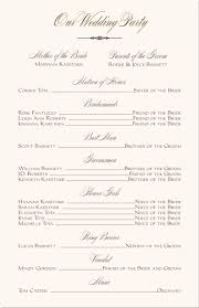 reception program template wedding programs wedding program wording program sles program