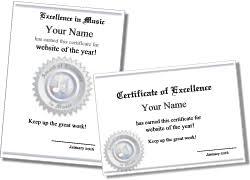 borderless certificate templates music certificate templates