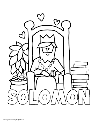 king solomon coloring page kids coloring