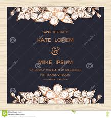 E Wedding Invitation Cards Save The Date Wedding Invitation Card Template With Hand Drawn