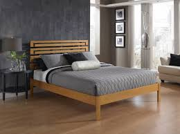 bedroom captivating grey comforter platform bed with brown wooden