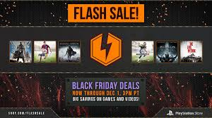 black friday flash sale up to 65 top ps4 ps3